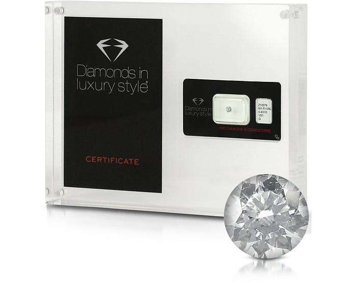 0.43 Carat Round Brilliant Diamond - Amin Luxury