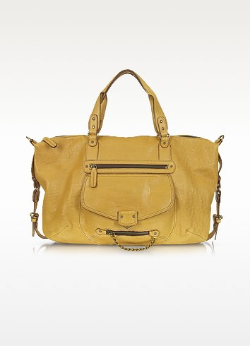 Odelia Large Leather Tote - Abaco