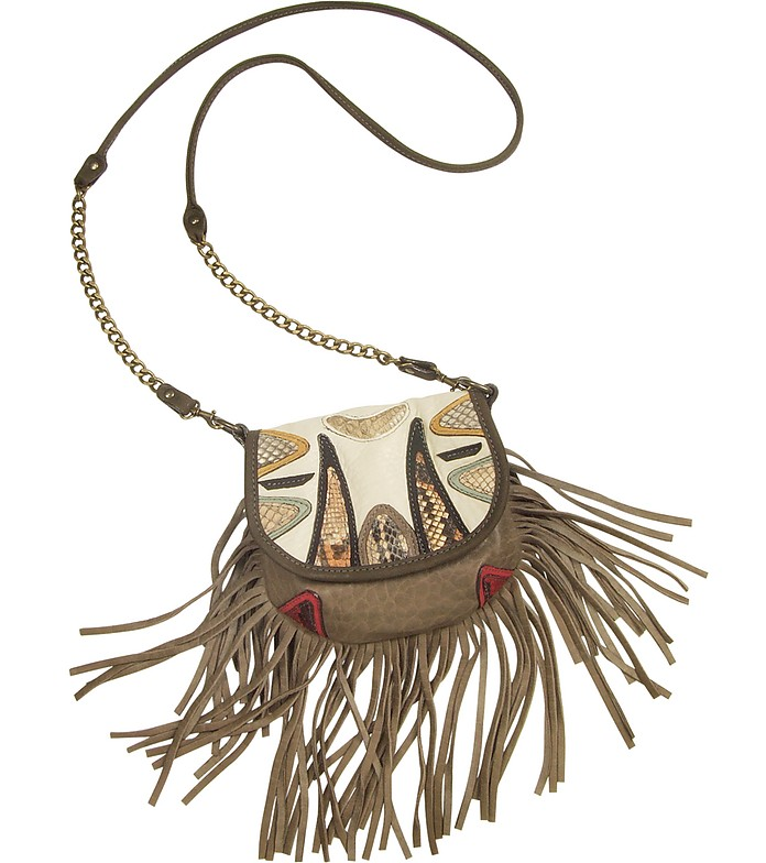 Chitta Python Leather Shoulder Bag - Abaco
