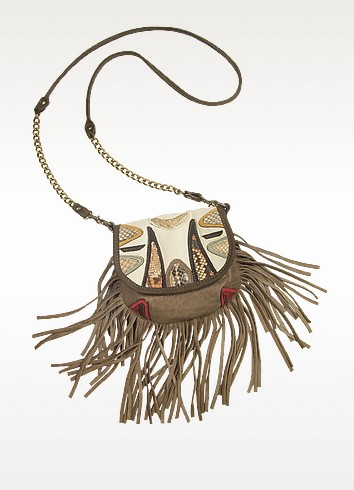 Chitta Python Leather Shoulder Bag - Abaco