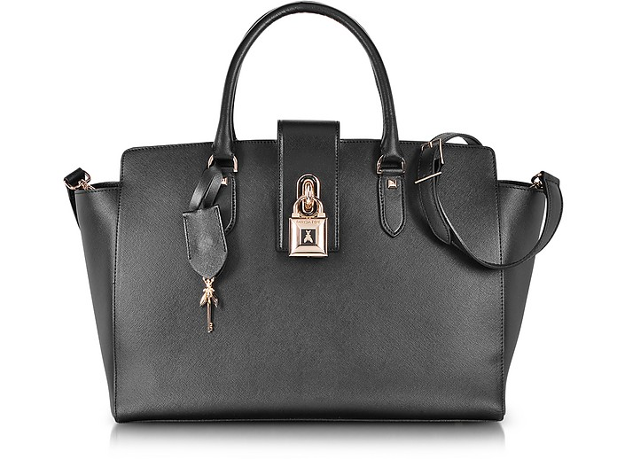 Saffiano Leather Bowling Bag - Patrizia Pepe