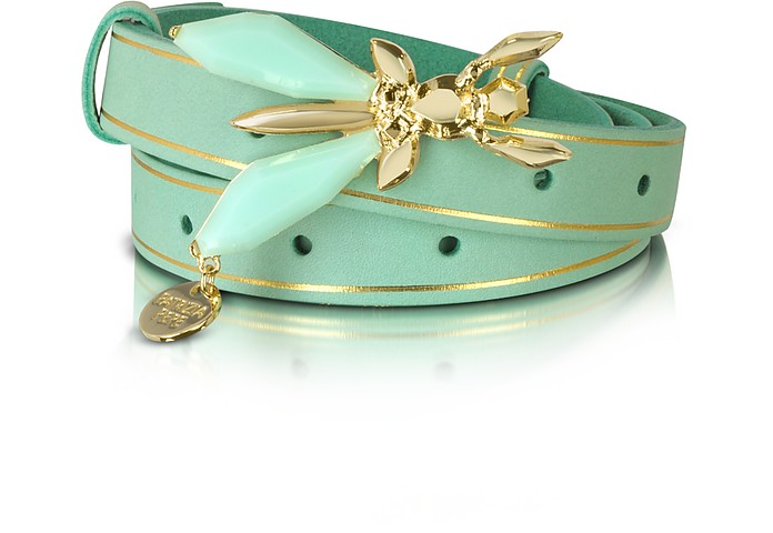 Precious Fly - Jeweled Buckle Suede Belt - Patrizia Pepe