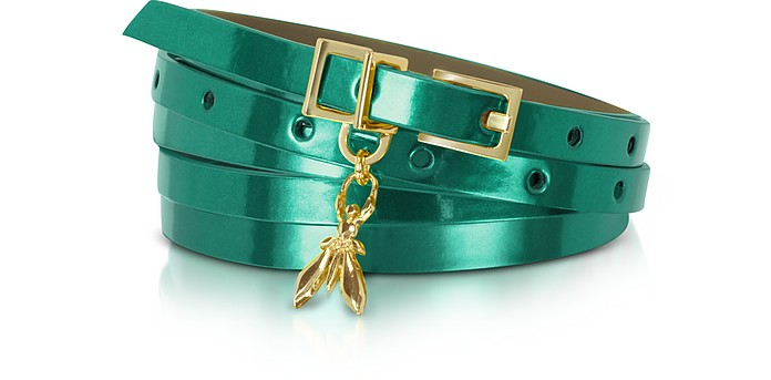 Double Wrap-Around Patent Leather Belt - Patrizia Pepe