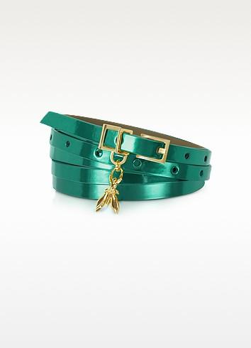 Double Wrap-Around Patent Leather Belt - Patrizia Pepe