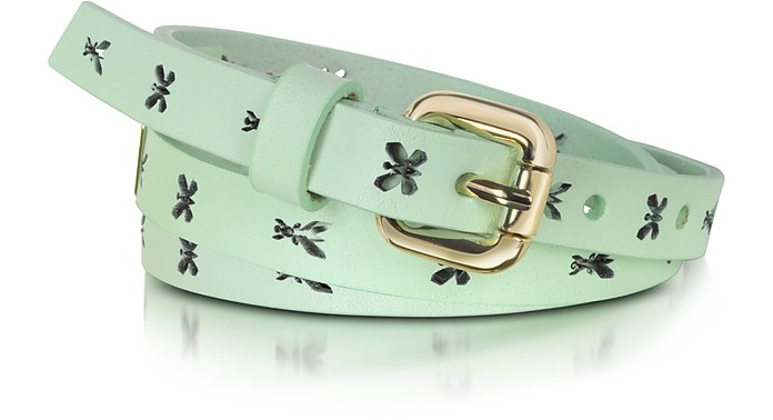 Pepe Fly Laser Aqua Leather Belt - Patrizia Pepe