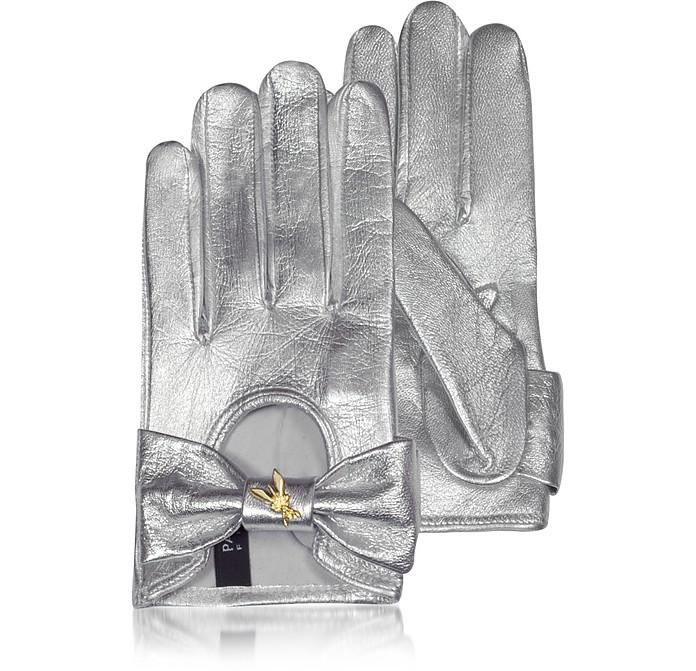 Laminated Leather Gloves - Patrizia Pepe