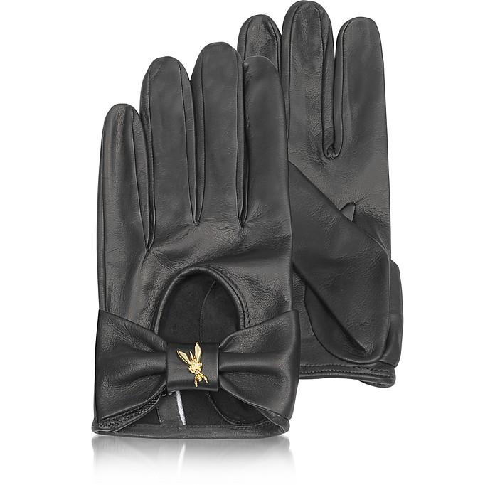 Black Leather Gloves - Patrizia Pepe