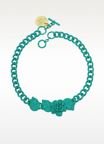 Rhinestone Flower Chain Necklace - Patrizia Pepe