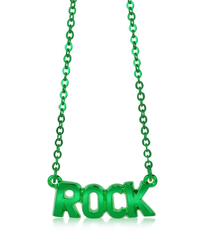Green Brass Rock Necklace - Patrizia Pepe