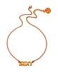 Orange Brass Sexy Necklace - Patrizia Pepe