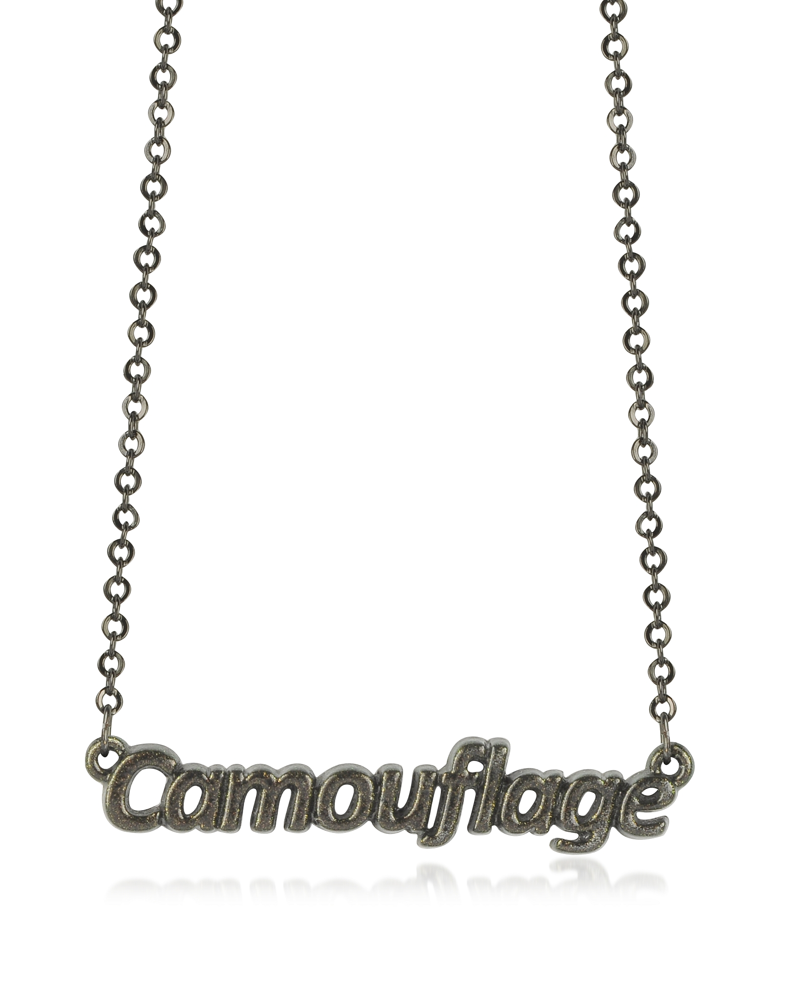 Patrizia Pepe Necklaces, Khaki 'Camouflage' Necklace
