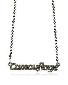 Khaki 'Camouflage' Necklace - Patrizia Pepe
