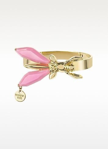 Precious Fly Golden and Pink Bangle Bracelet - Patrizia Pepe