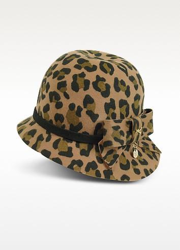 Animal Print Wool Felt Hat - Patrizia Pepe