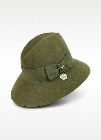 Loden Green Wool Hat - Patrizia Pepe