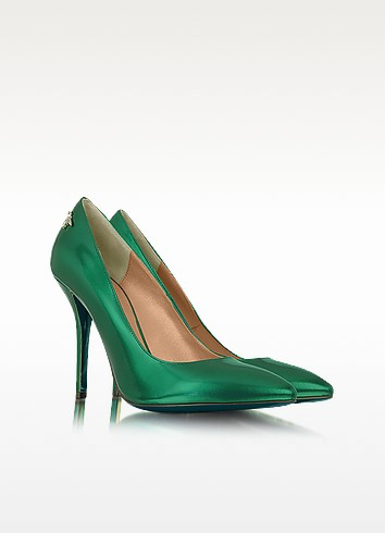 Green Metallic Leather Pump - Patrizia Pepe