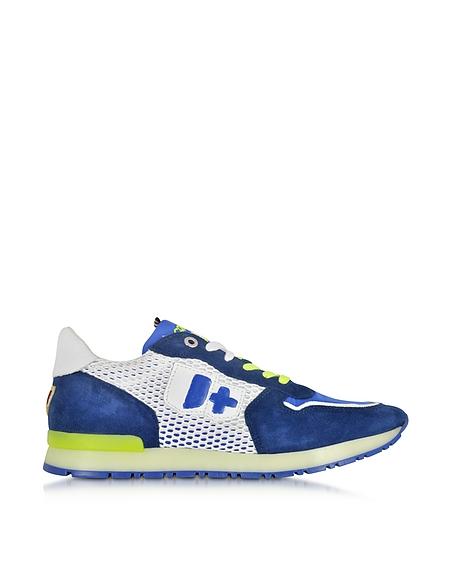 Foto D'Acquasparta Botticelli Sneaker in Nabuk Blu Elettrico e Rete Scarpe