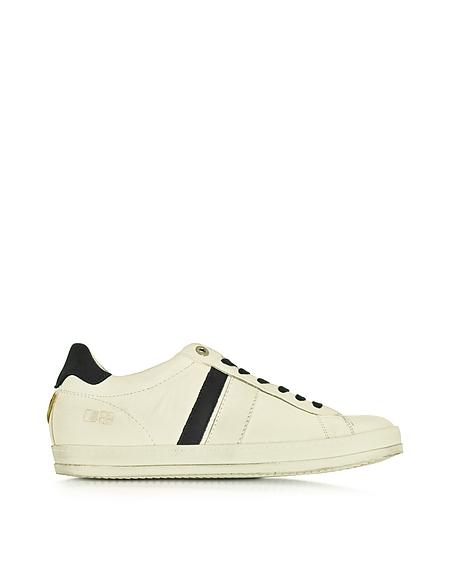 Foto D'Acquasparta Davis Sneaker in Pelle e nabuk Bianco/Blu Scarpe