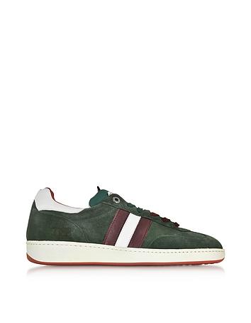 D'Acquasparta - Ghiberti Green Suede Flat Men's Sneaker