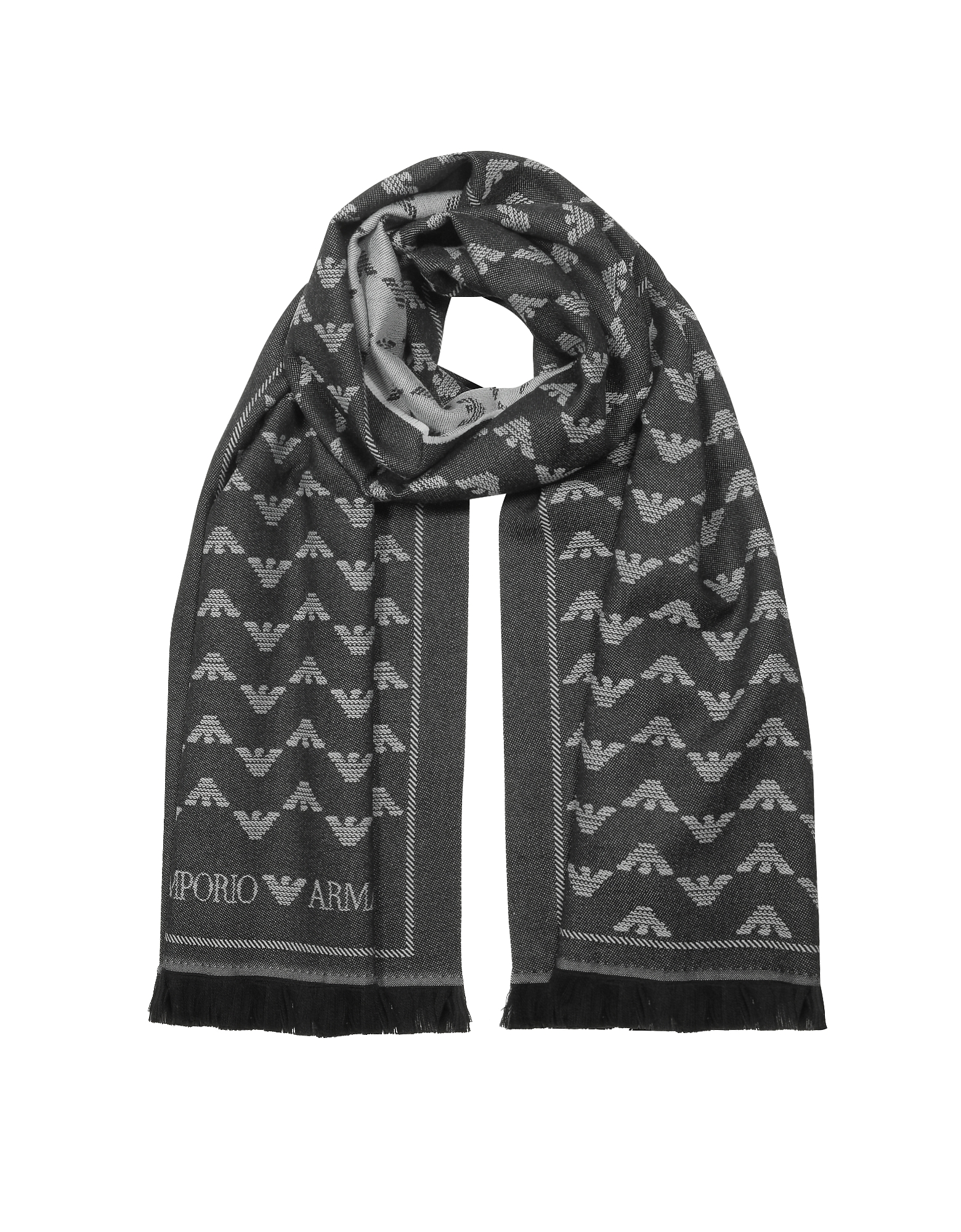 Wool Blend Signature Woven Scarf