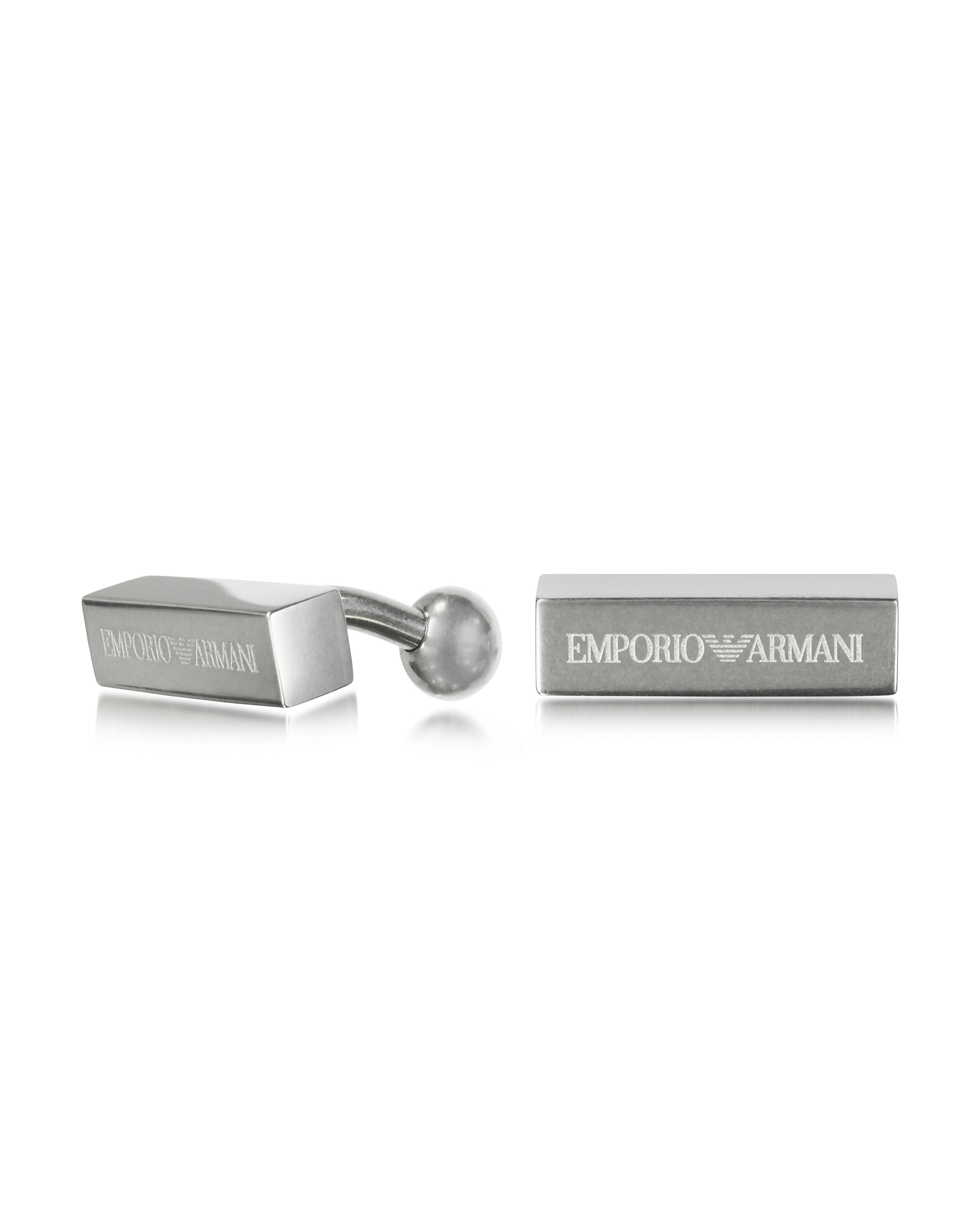 Stainless Steel Signature Men's Cufflinks от Forzieri.com INT
