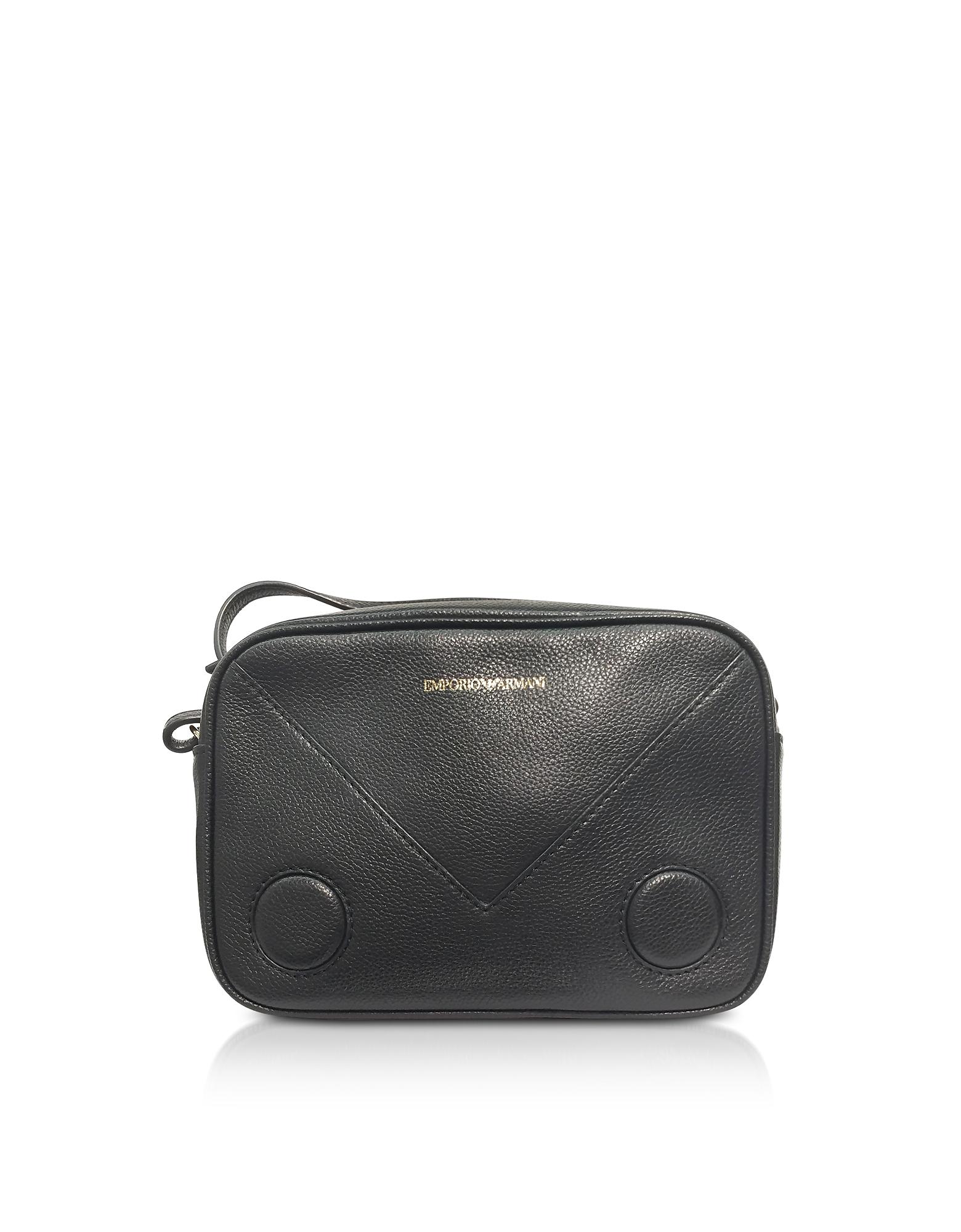 Emporio Armani Handbags, Black Mini Shoulder Bag