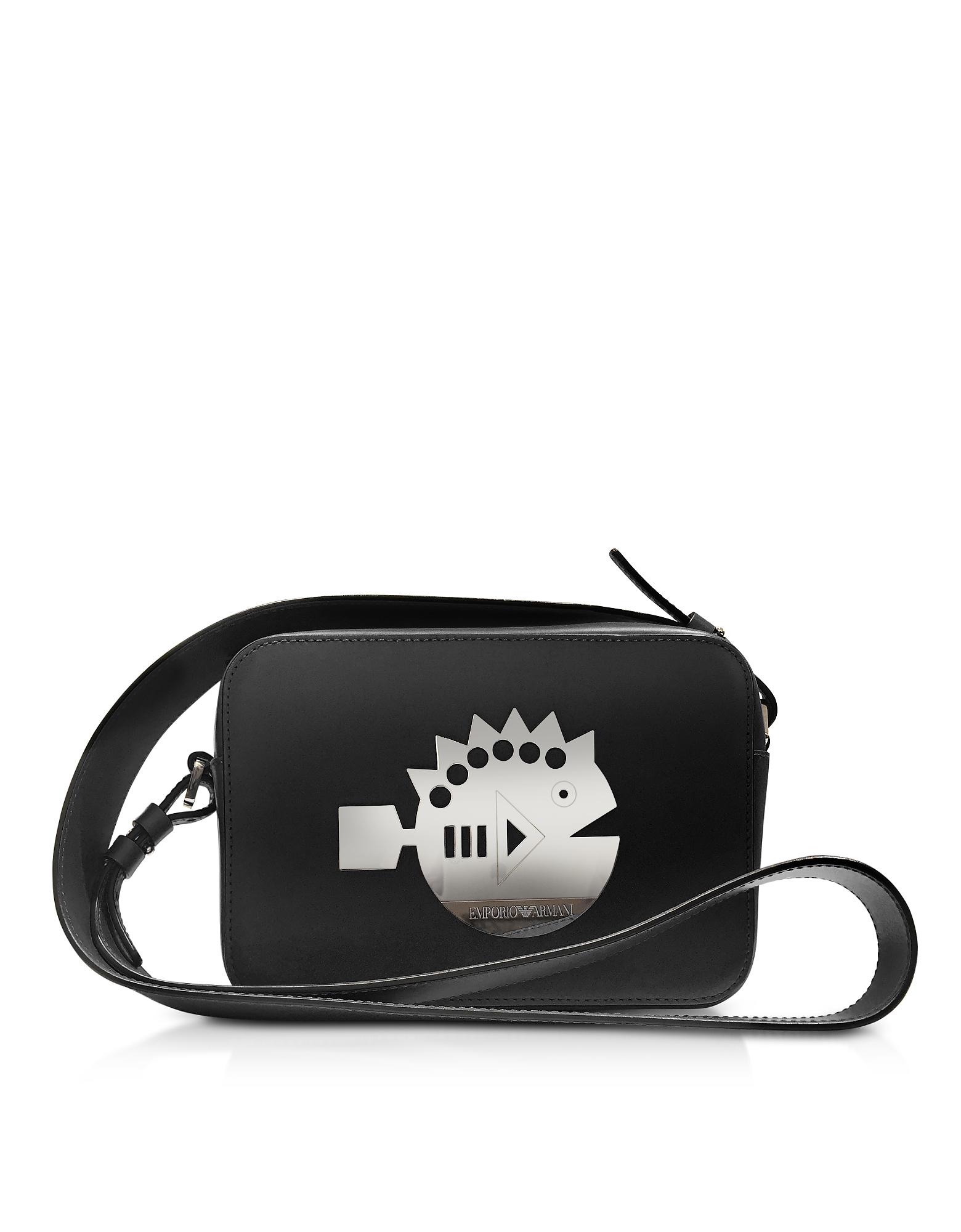 Cyber Waterworld Leather Crossbody Bag