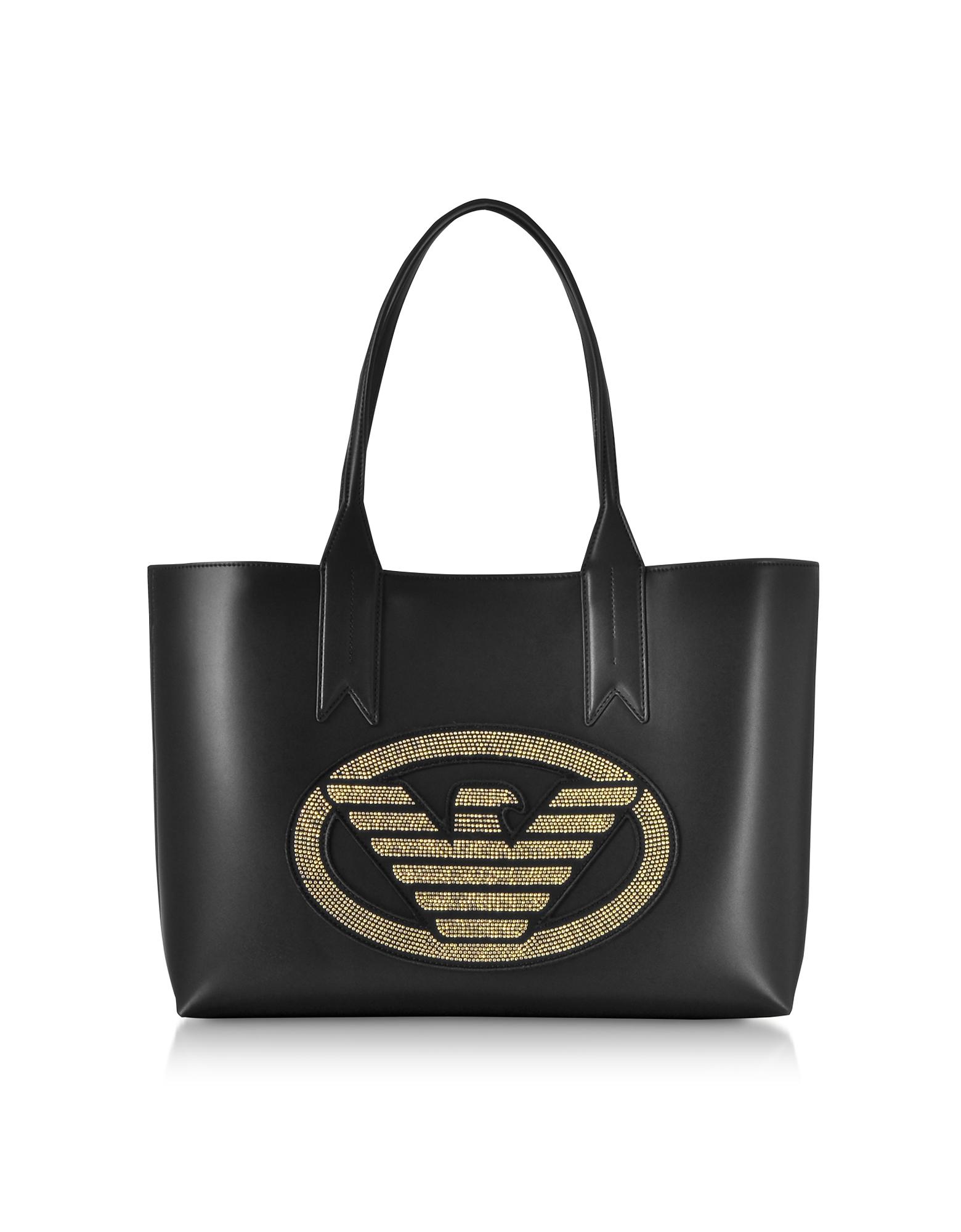 Emporio Armani Designer Handbags, Signature Medium Tote Bag