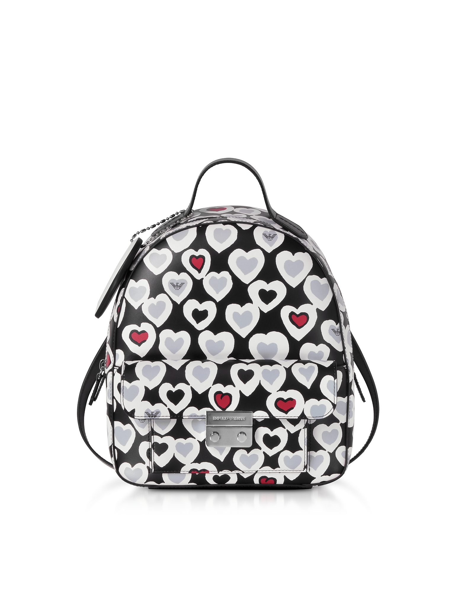 Heart Print Medium Backpack