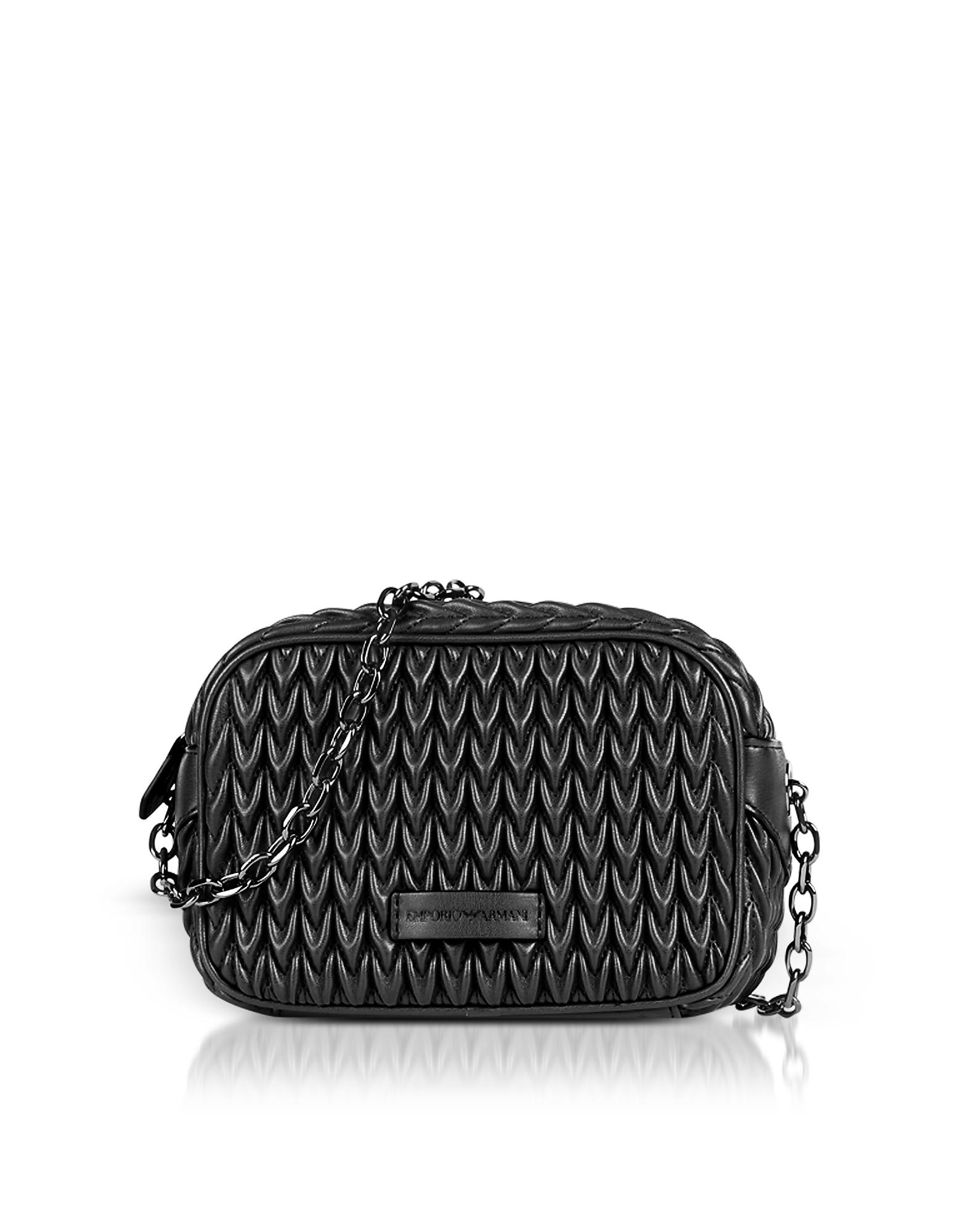 Emporio Armani Handbags, Quilted Eco-Leather Shoulder Bag