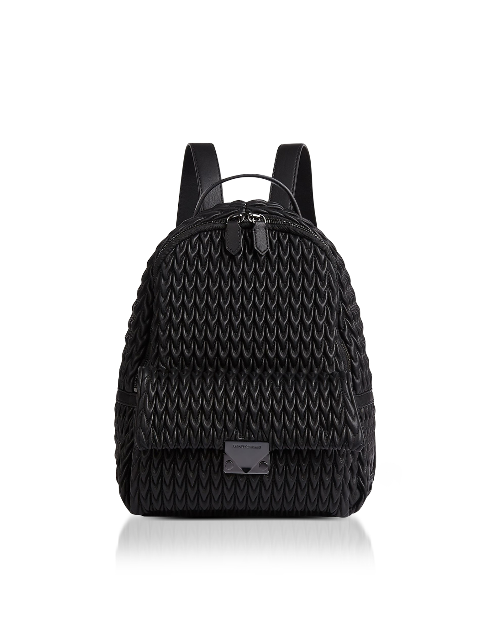 Emporio Armani Handbags, Quilted Eco-Leather Backpack