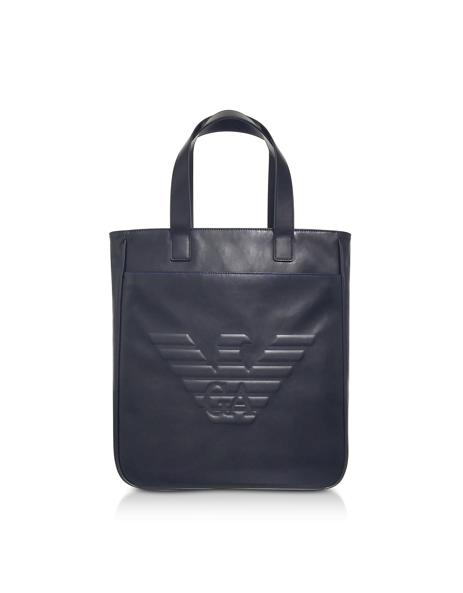 Black Eagle Shopping Bag N/S Uomo in Eco Pelle Nera