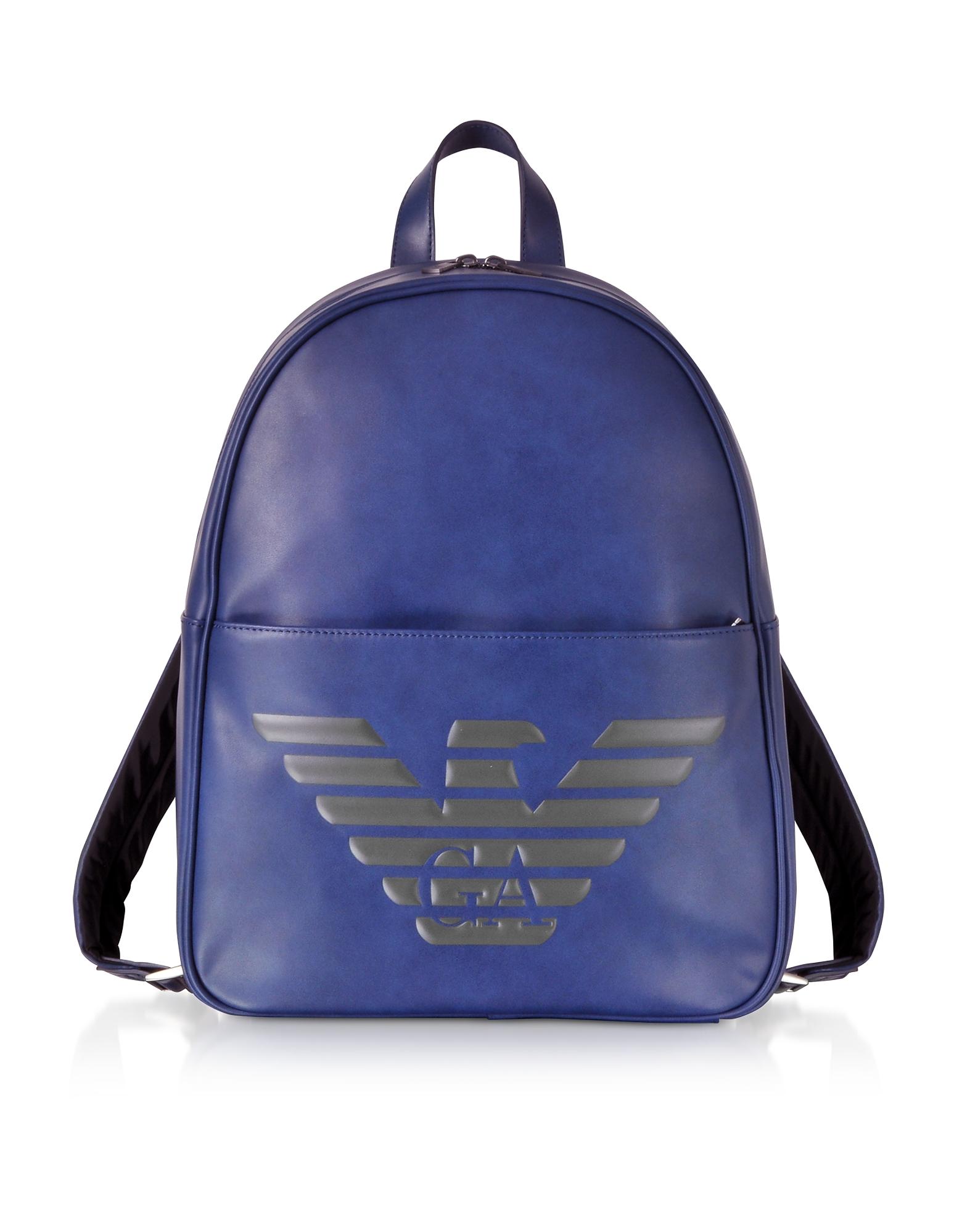 Blue Eagle Embossed Eco Leather Men's Backpack