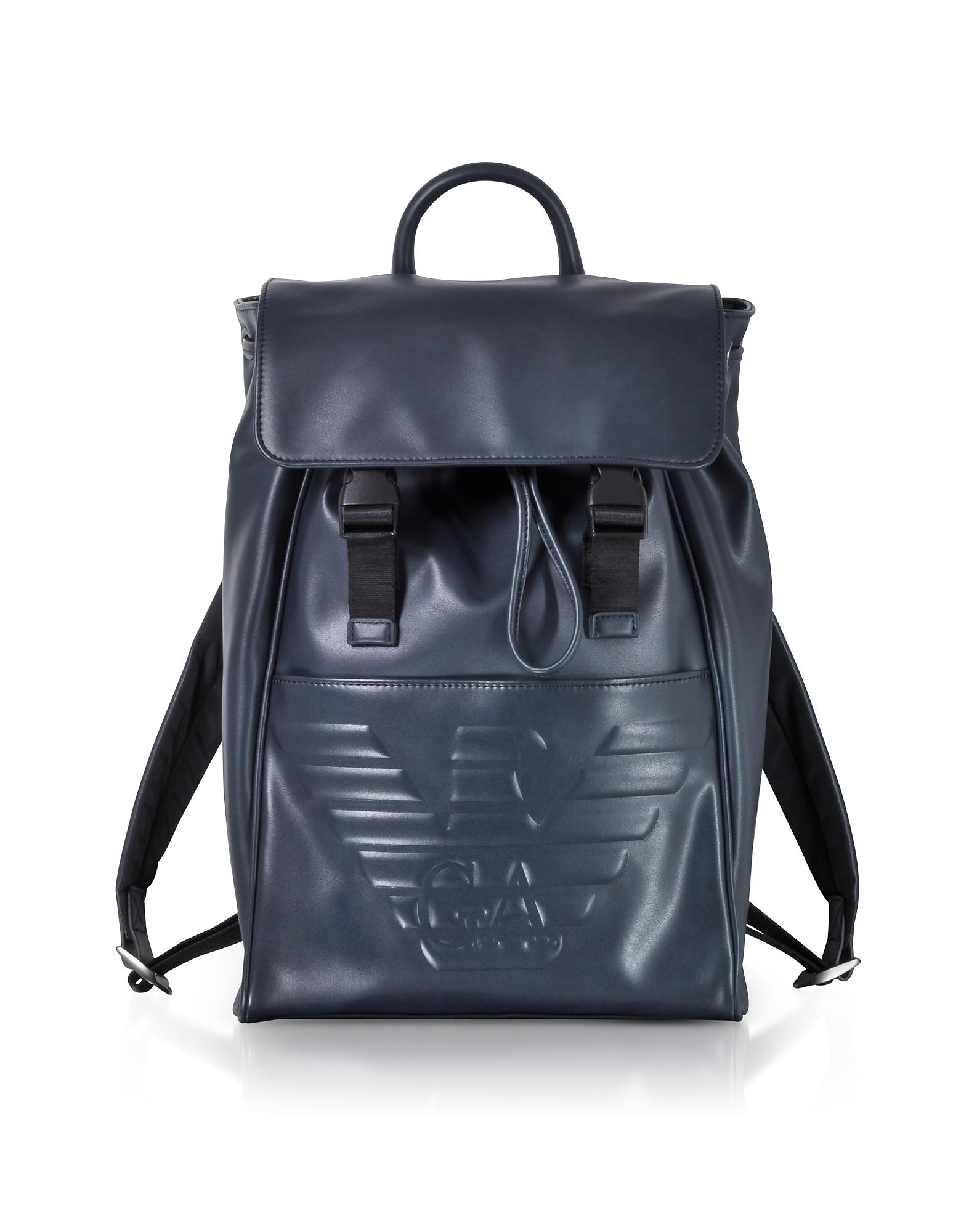 Navy Blue Embossed Eagle Backpack