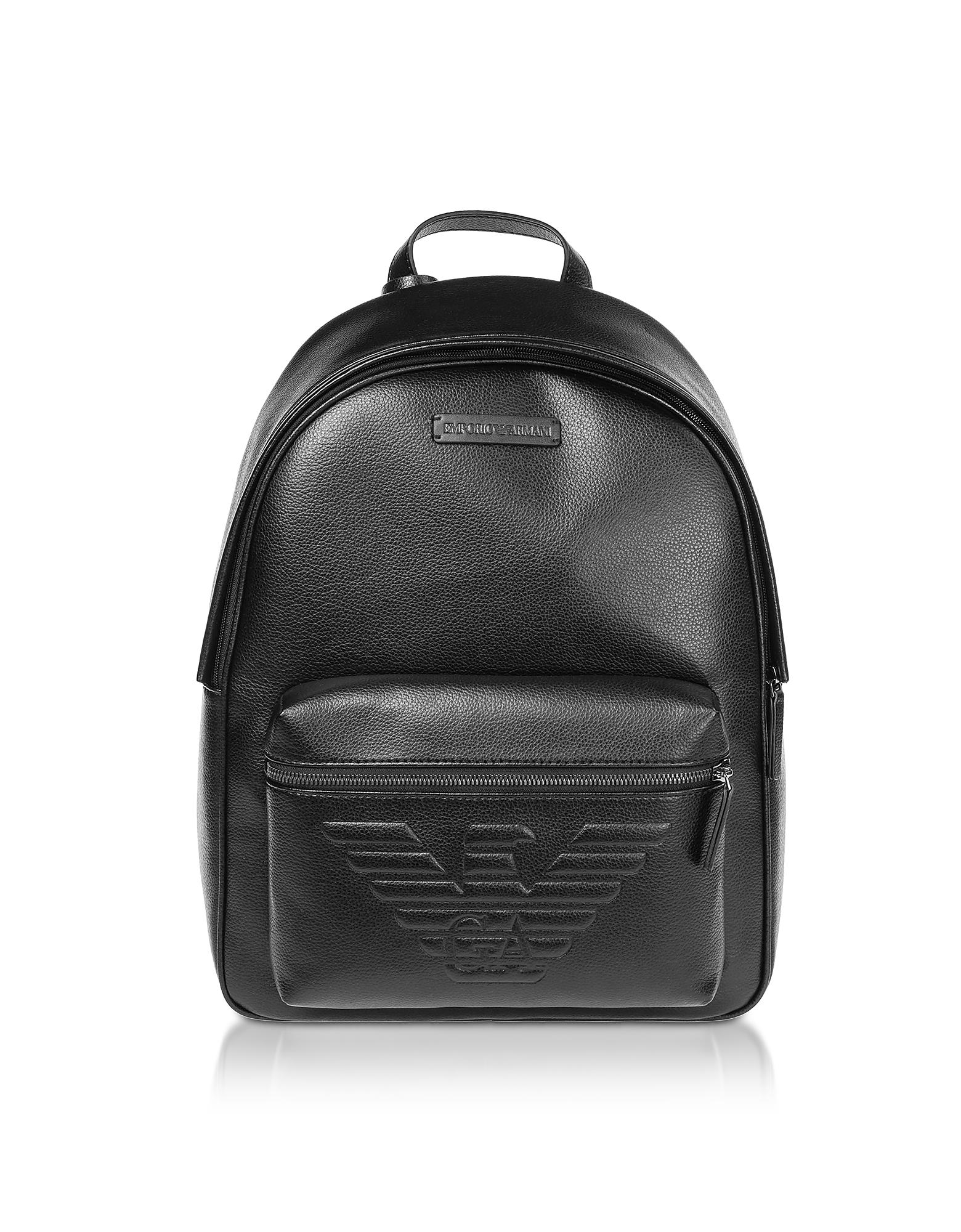 Black Backpack w/ Maxi Logo