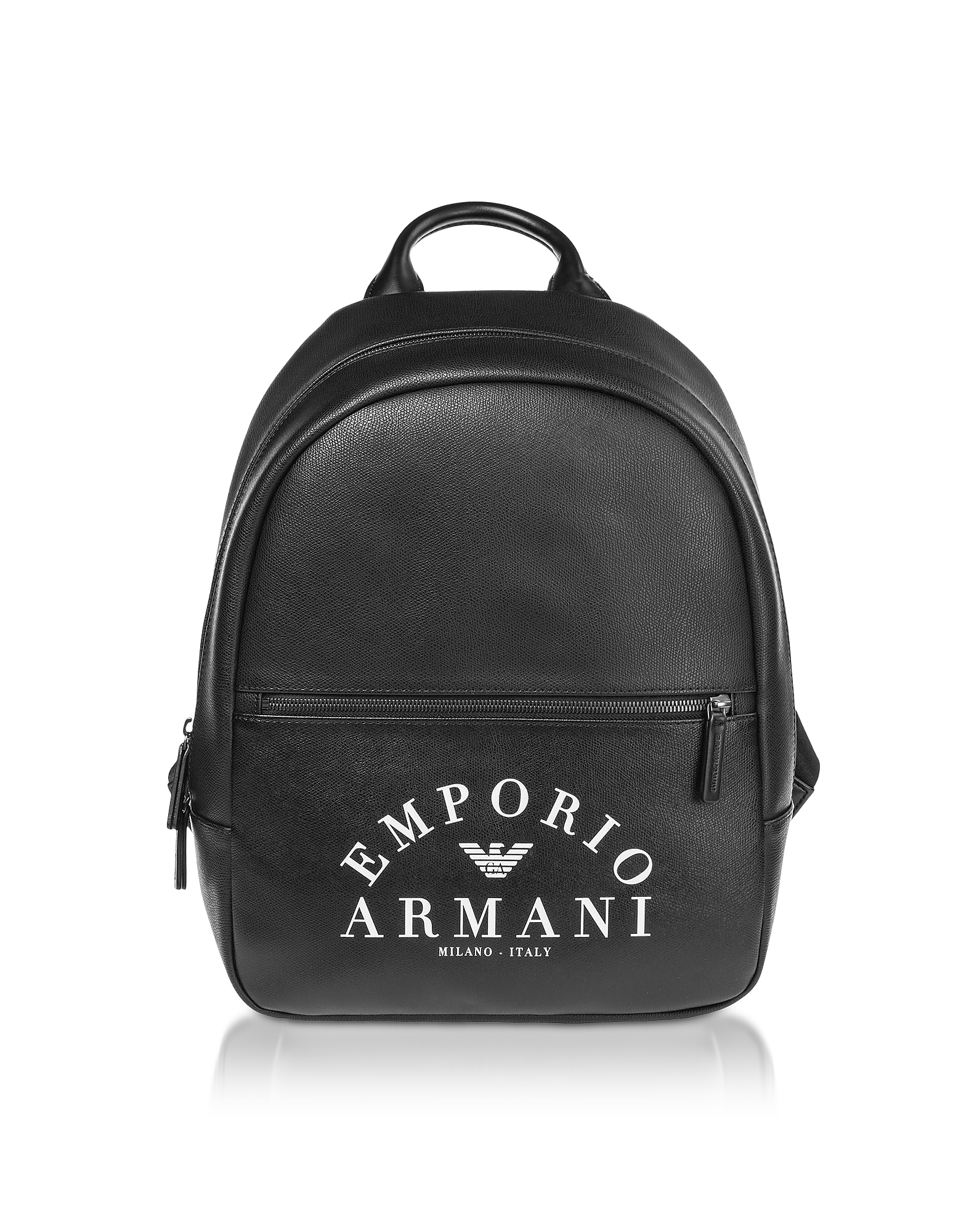 Black Signature Printed Backpack