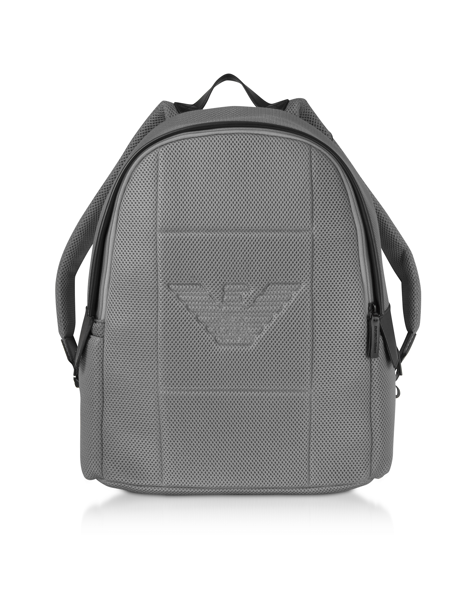 Two-tone Backpack w/ Side Pockets, Black/gray