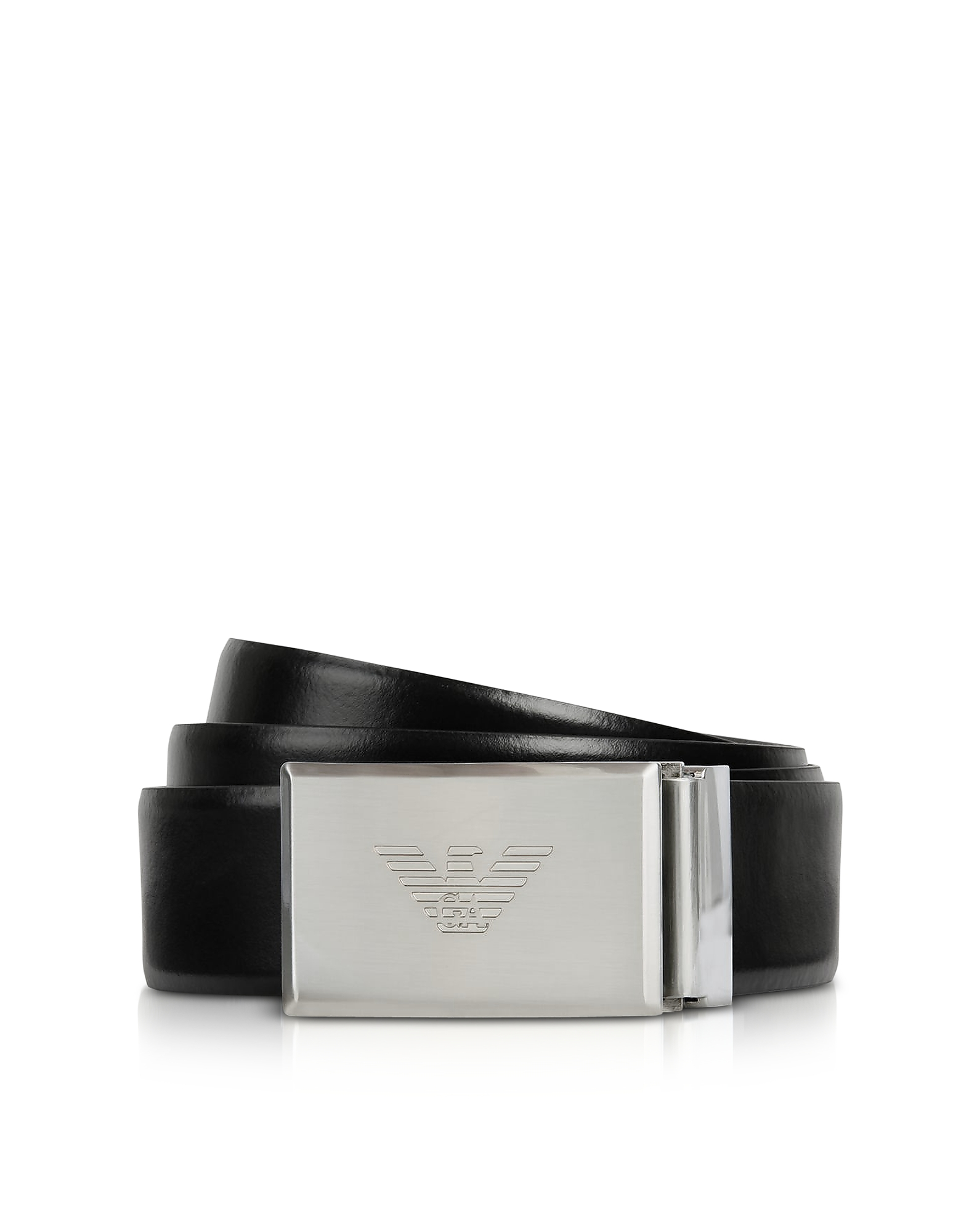 Black and Dark Gray Reversible Men's Belt