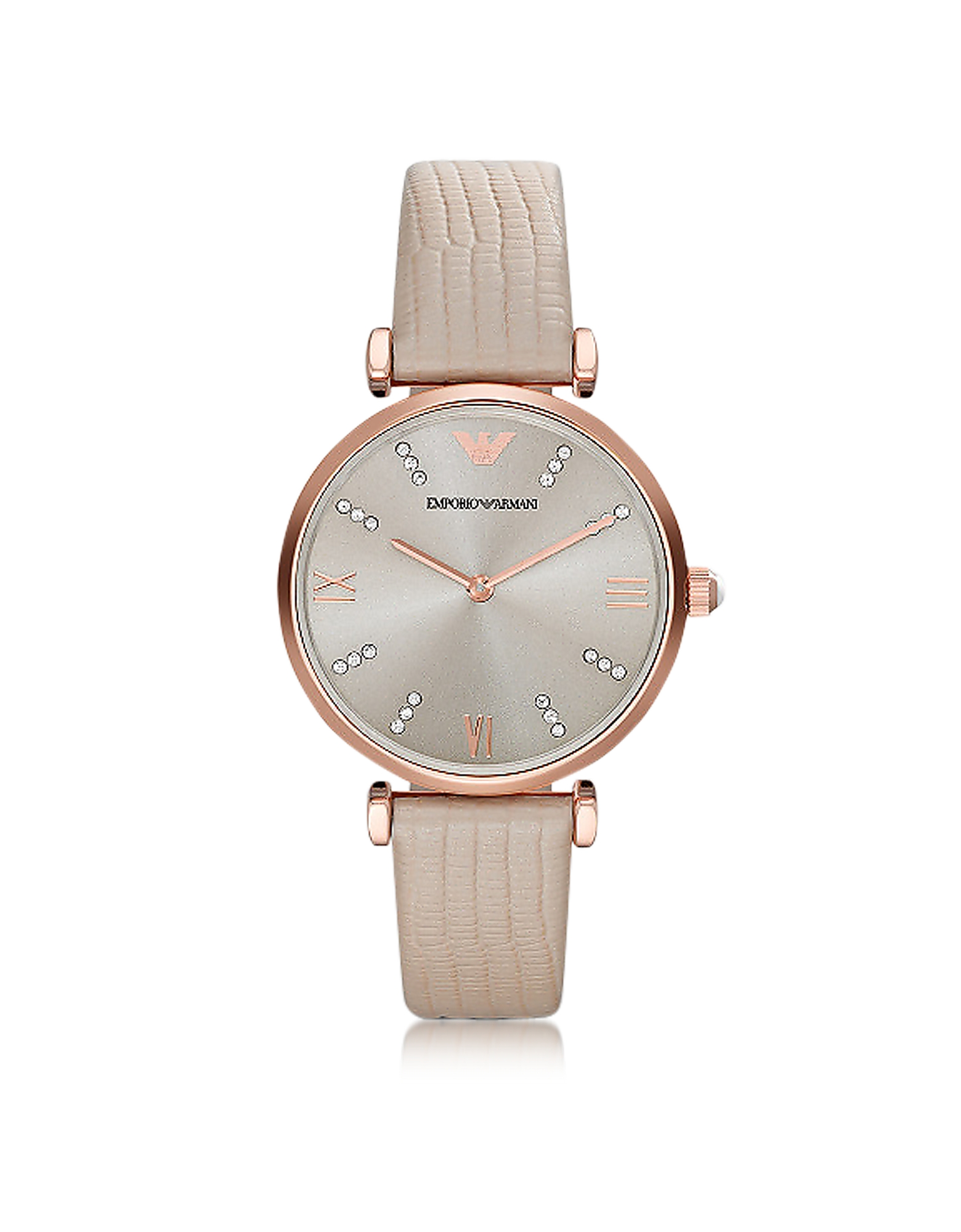 T-Bar Rose gold-tone PVD Stainless Steel Women's Quartz Watch w/Leather Strap от Forzieri.com INT