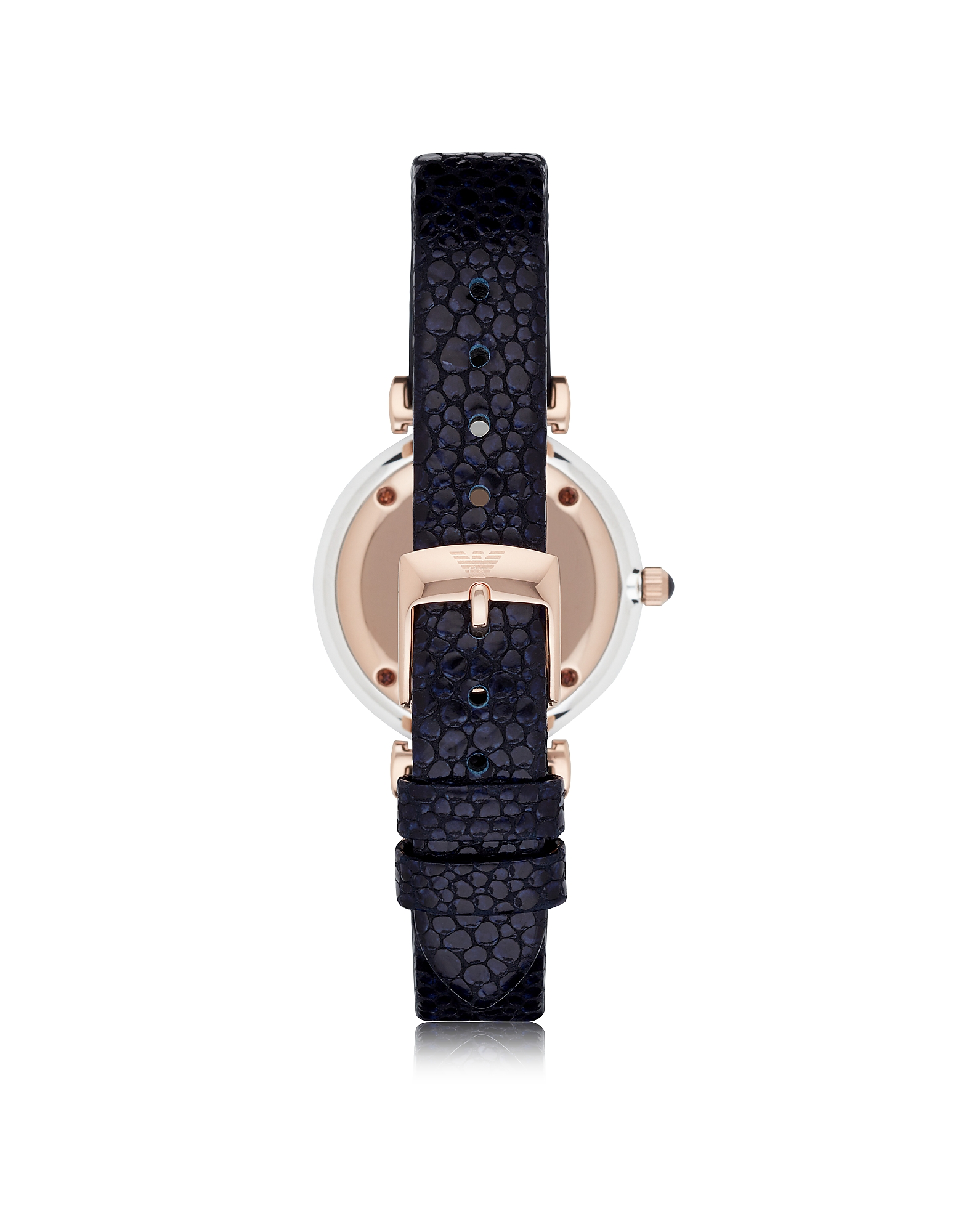 T-Bar Stainless Steel Women's Quartz Watch w/Midnight Blue Leather Strap от Forzieri.com INT