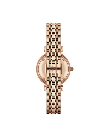 Rose Gold PVD Stainless Steel Women's Quartz Watch w/Mother of Pearl Signature Dial ar270017-007-00
