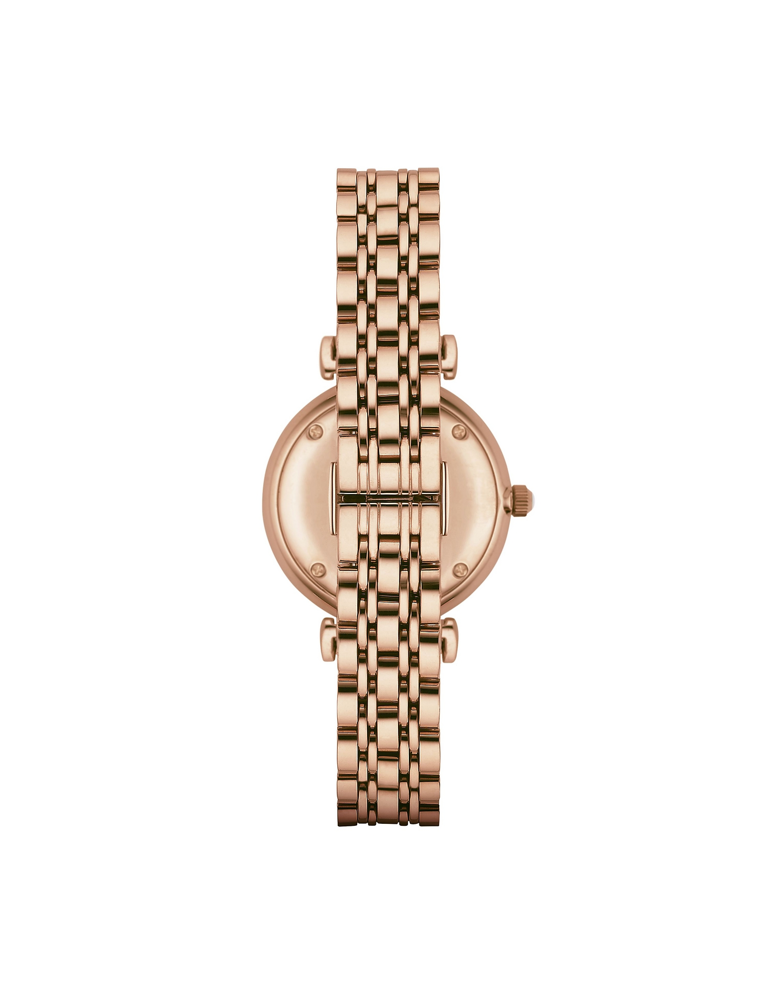 Emporio Armani Women's Watches, Rose Gold PVD Stainless Steel Women's Quartz Watch w/Mother of Pearl