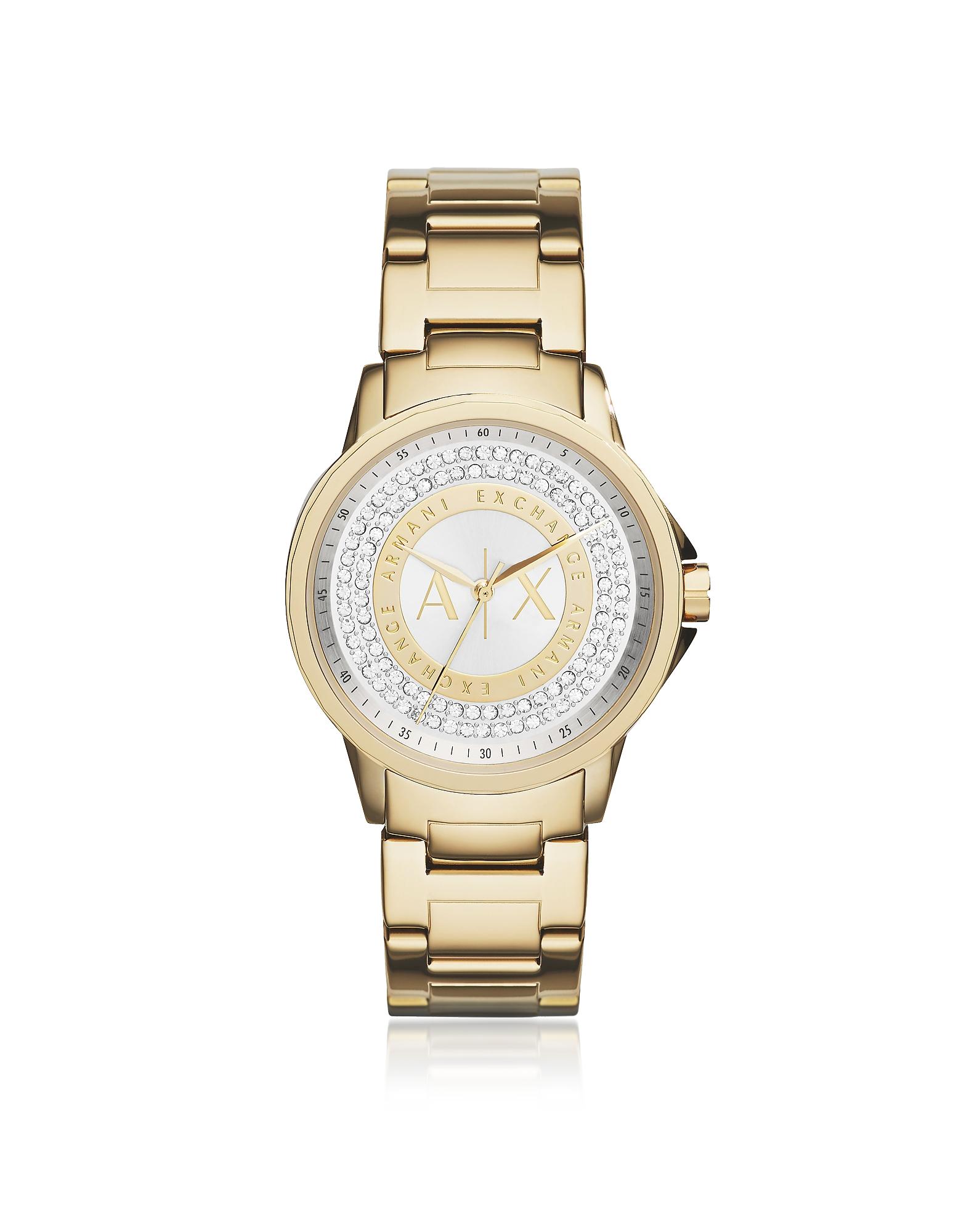 Orologio Donna Lady Banks in Acciaio Oro e Cristalli
