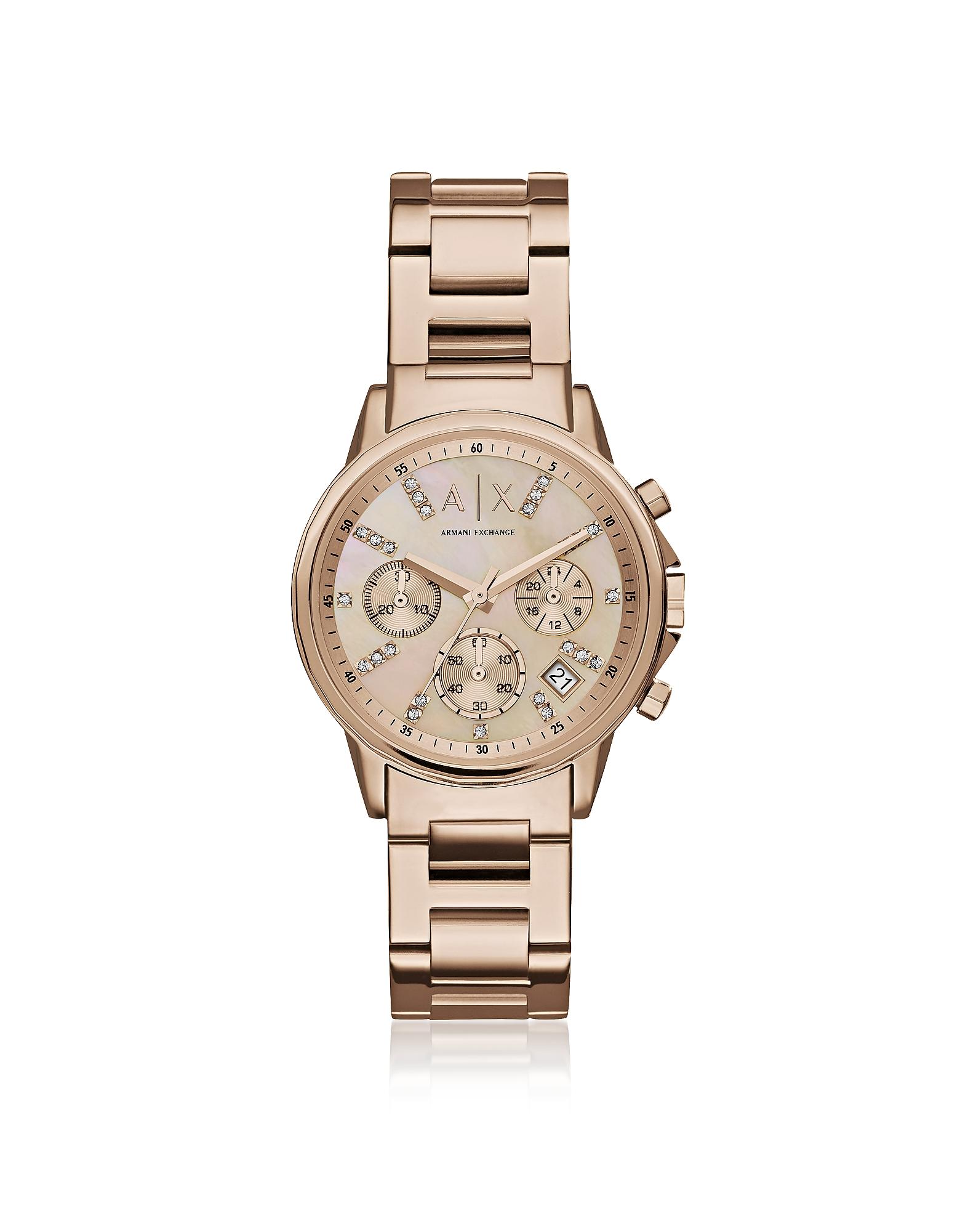 Armani Exchange Women's Watches, Lady Banks Rose Tone Chronograph Women's Watch