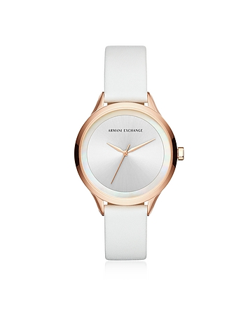 Armani Exchange AIX White and Rose Women's Watch