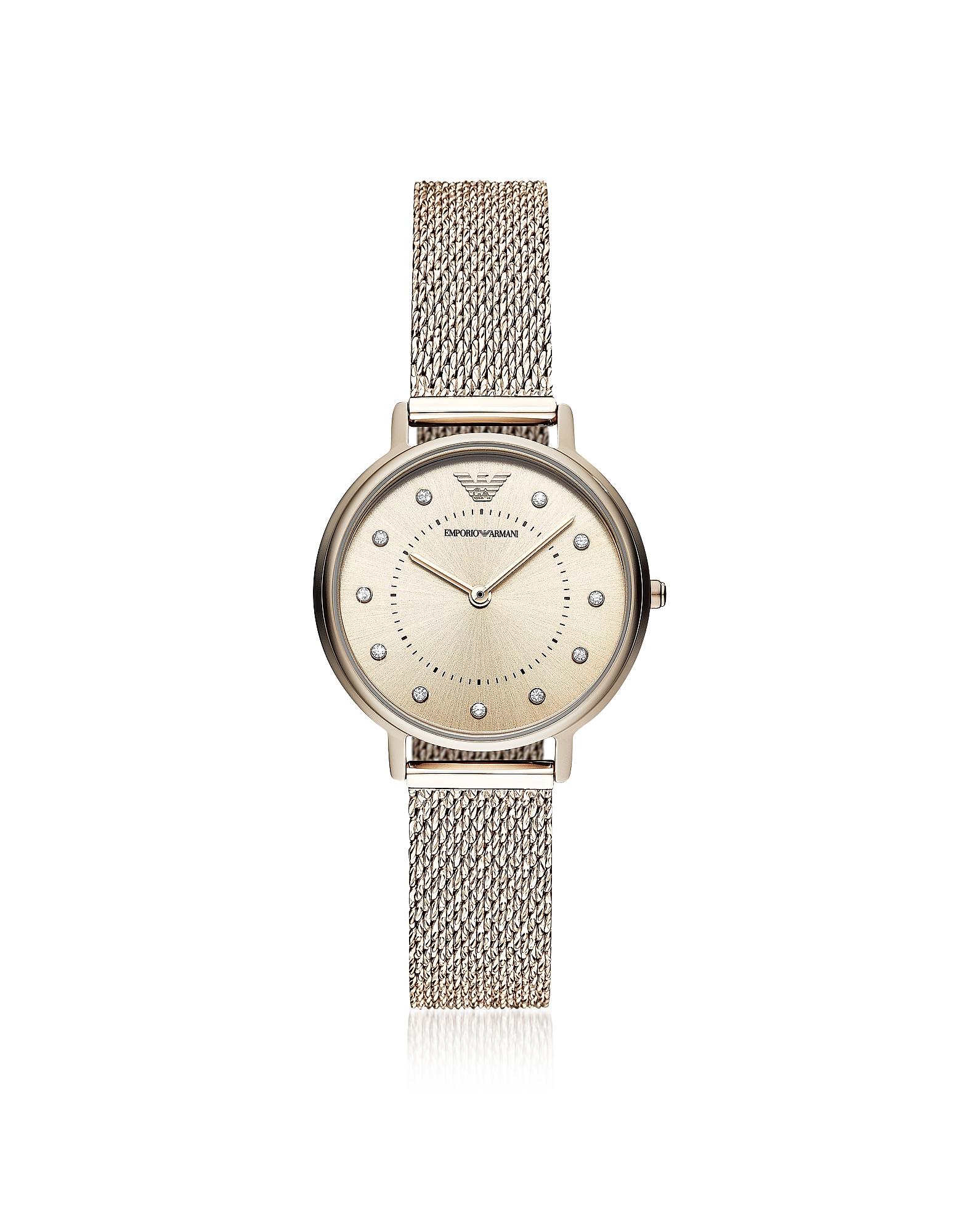 EMPORIO ARMANI | Emporio Armani Designer Women's Watches, Kappa Rose Mesh Women's Watch | Goxip