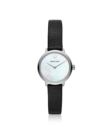 Emporio Armani Modern Slim Two Hand Black Women's Watch