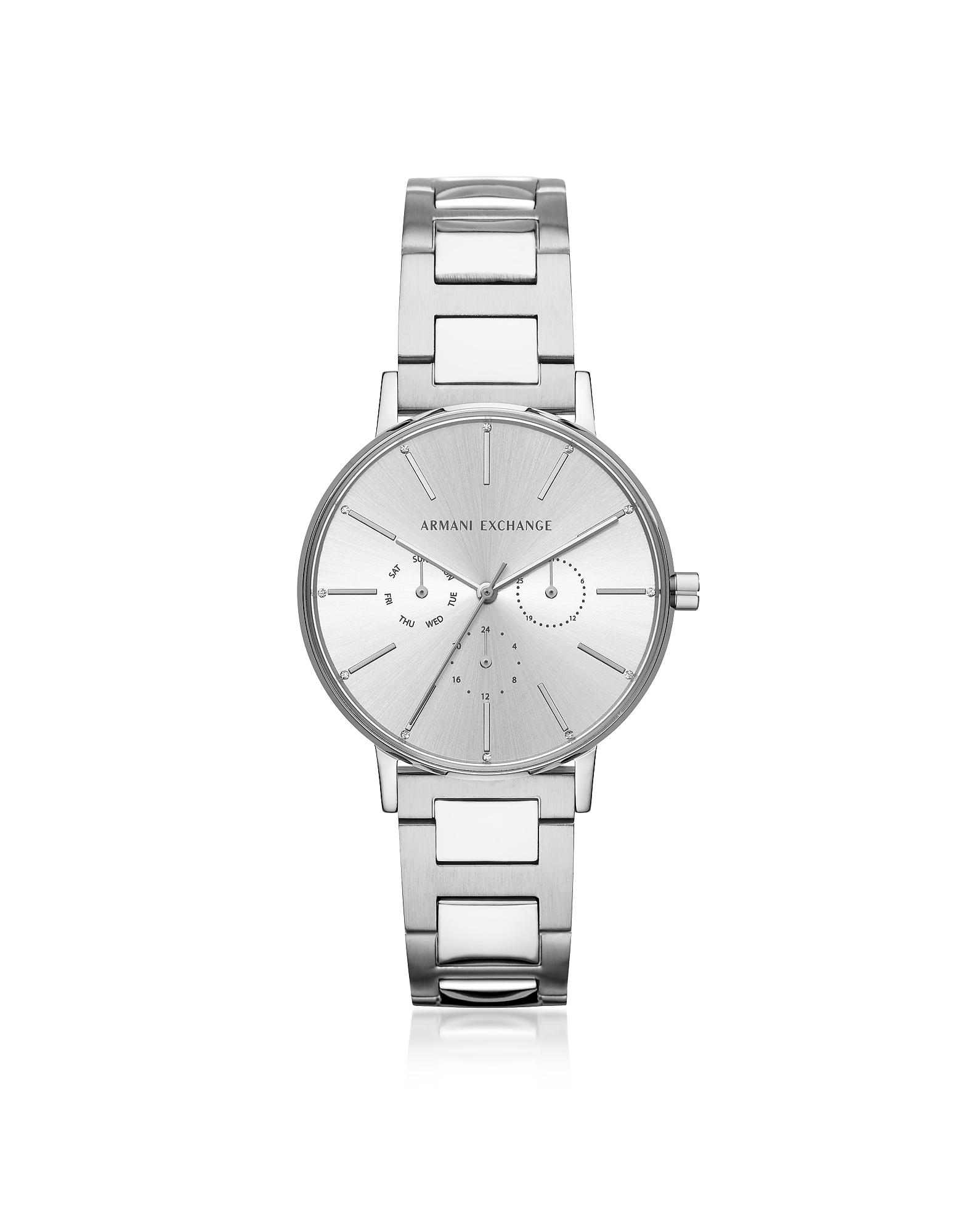 Armani Exchange Designer Women's Watches, Lola Stainless Steel Chronograph Women's Watch