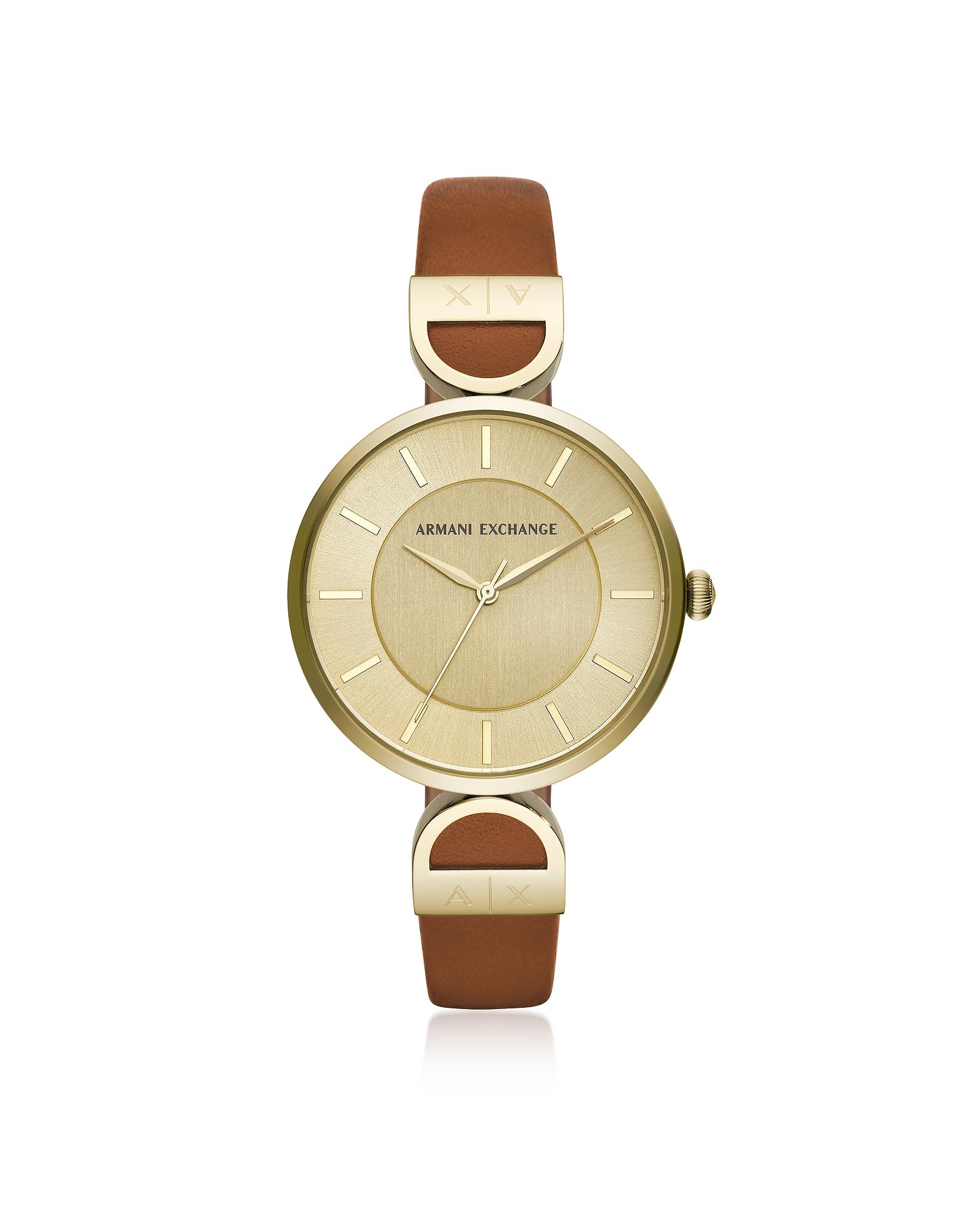 Brooke Gold Tone Luggage Women's Watch