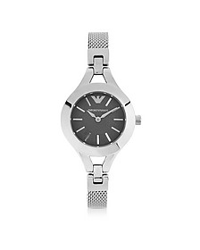 Women's Classic Stainless Steel Mesh Bracelet Watch - Emporio Armani